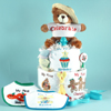 Baby's First Holiday's baby shower diaper cake
