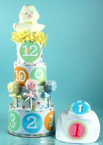 Baby Shower Diaper Cake-Belly Stickers by Silly Phillie