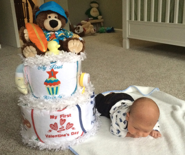 My First Holiday's Diaper Cake from Silly Phillie