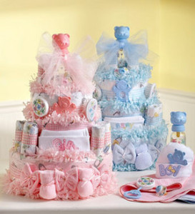 Traditional Baby Shower Diaper Cakes