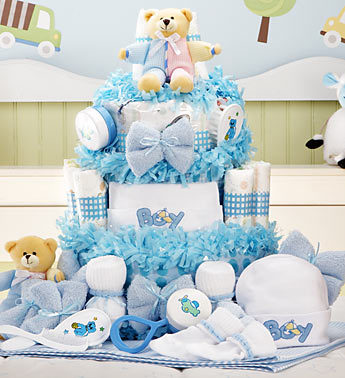 1800 flowers baby boy diaper cake