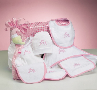 Personalized layette for Baby Girl