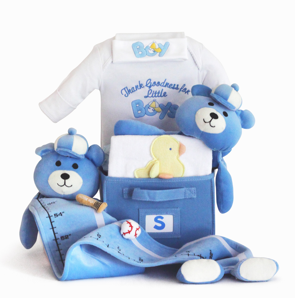 Baby Gifts For Boys : Baby boy gift basket made to order by silly phillie