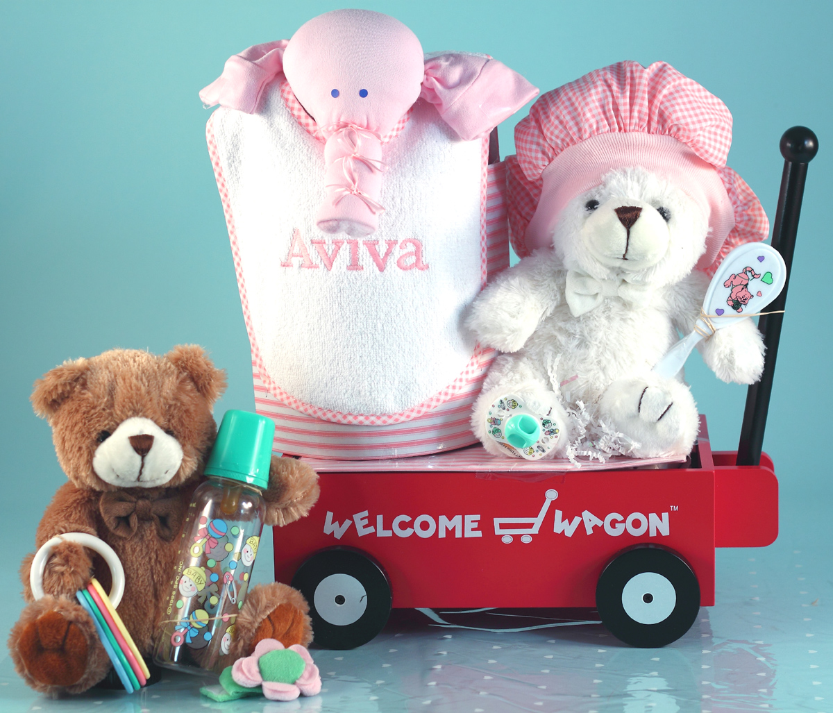 Personalized Baby Girl Gift Welcome Wagon
