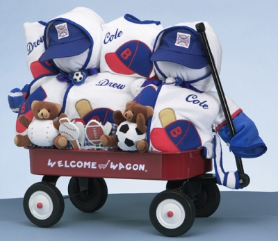 Gift for twin boys personalized deluxe welcome wagon gift for twins welcome wagon personalized baby boy gift negle Choice Image