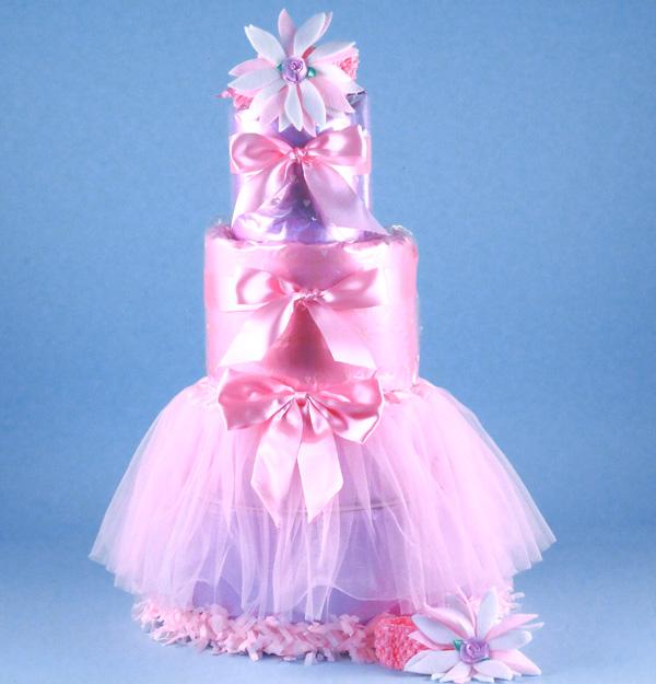 Diaper Cake Baby Girl Gift Tu Tu Tasty By Silly Phillie