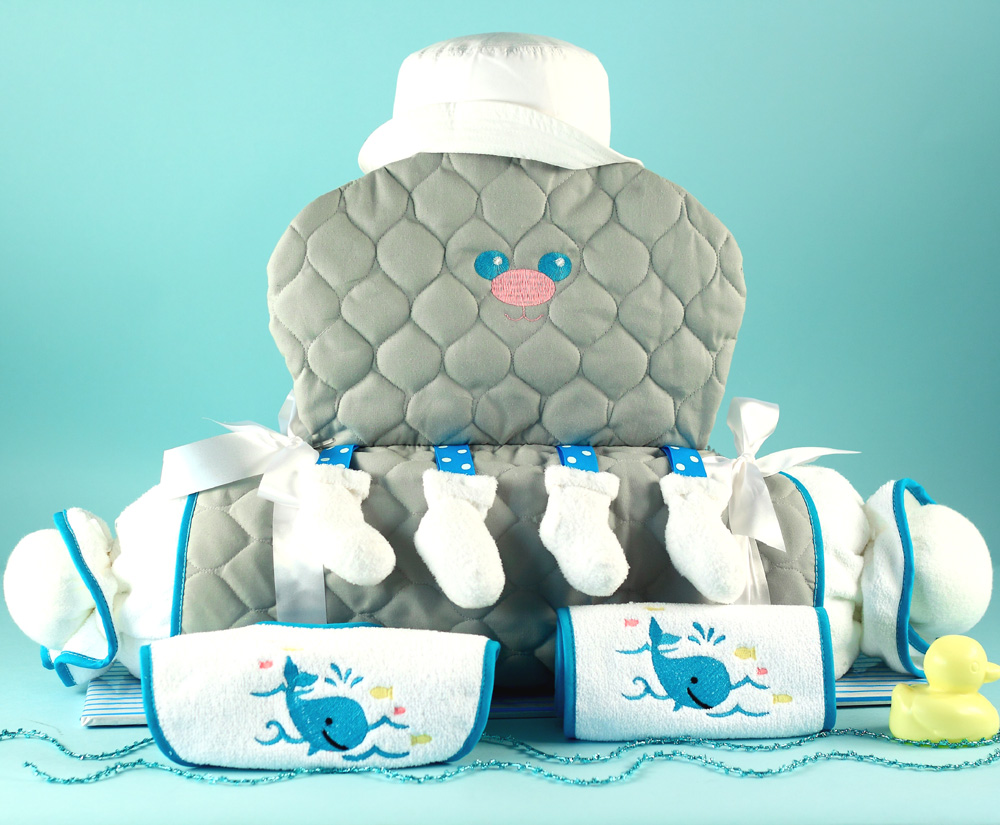 unique baby gifts  octopus layette gift set, Baby shower