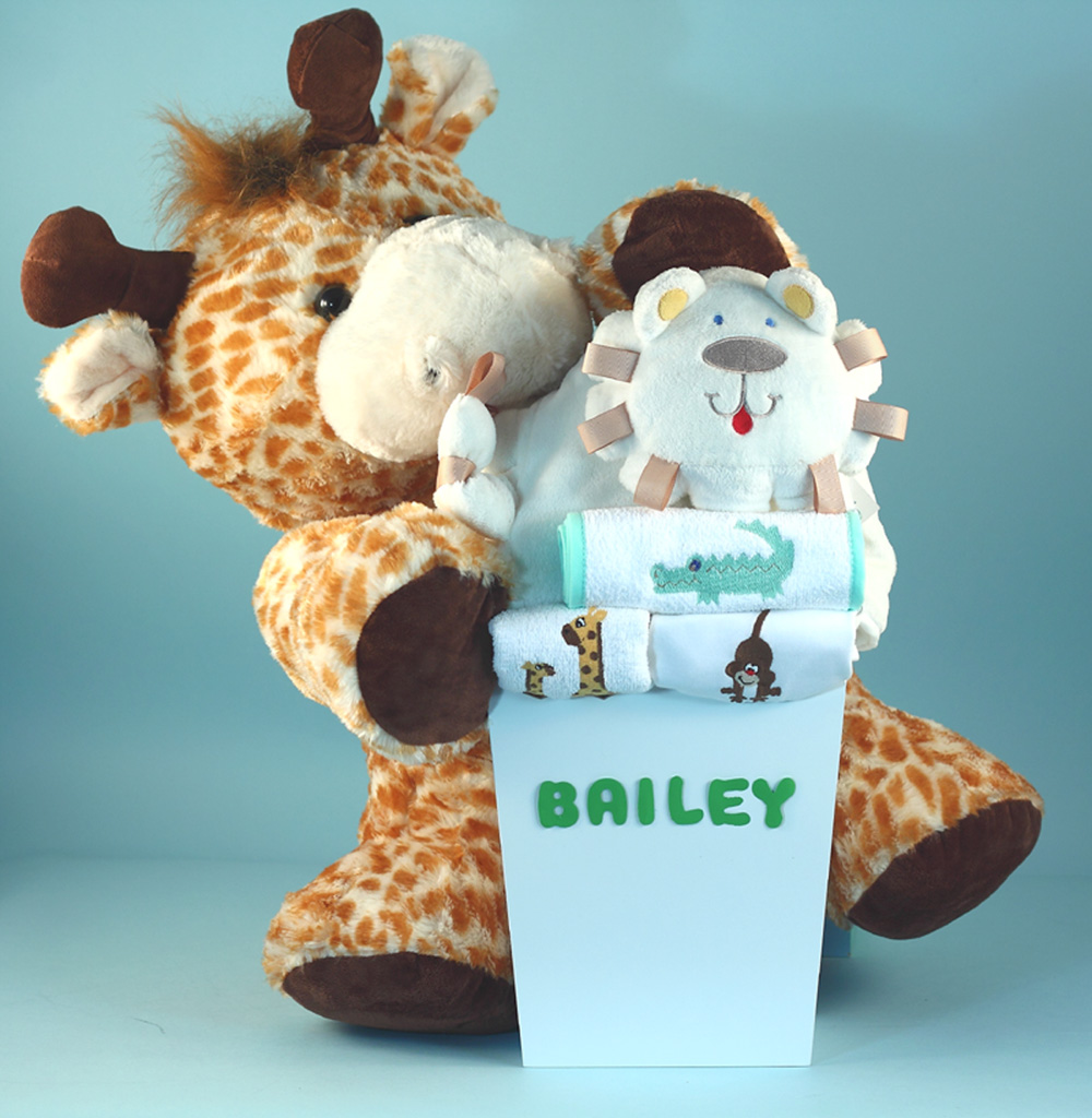 Deluxe baby shower gift personaliz by silly phillie safari themed personalized baby gift negle Choice Image
