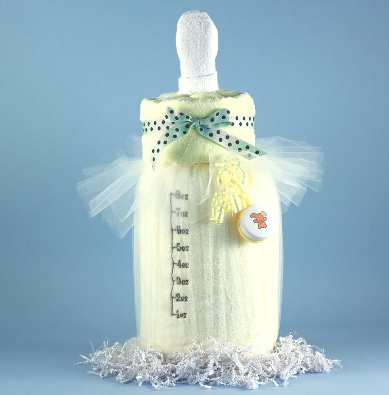 Baby Bottle Blankie Baby Shower Gift
