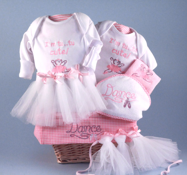 Baby girl gift basketfutire ballerina by silly phillie future ballerina baby gift basket negle