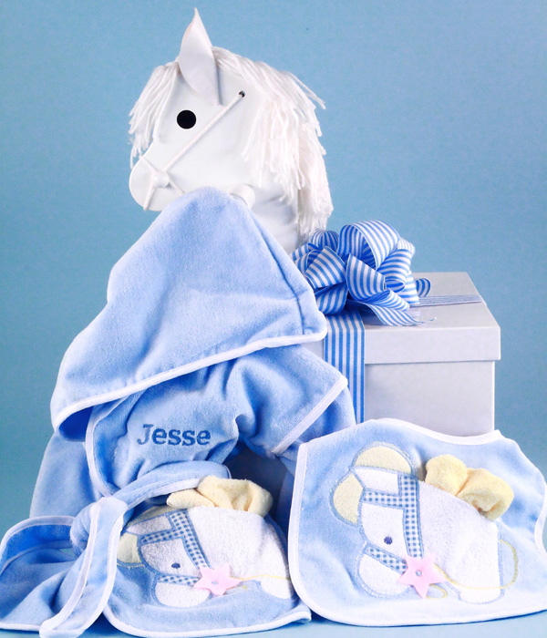 Personalized gift for baby boy in designer box silly phillie boy personalized baby gift in rocking horse gift box negle Gallery