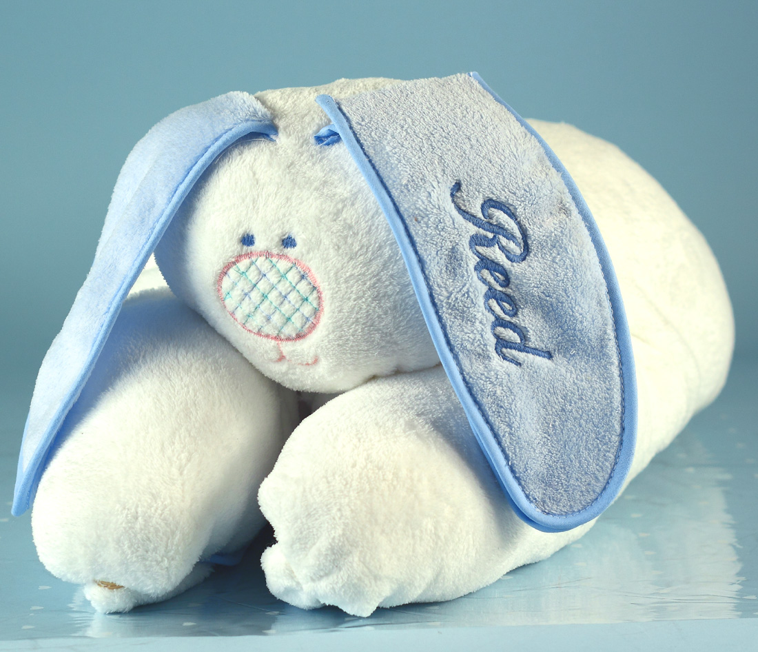 Boys snuggle bunny personalized baby blanket unique baby gifts snuggle bunny personalized baby blanket boy baby gift set negle Image collections