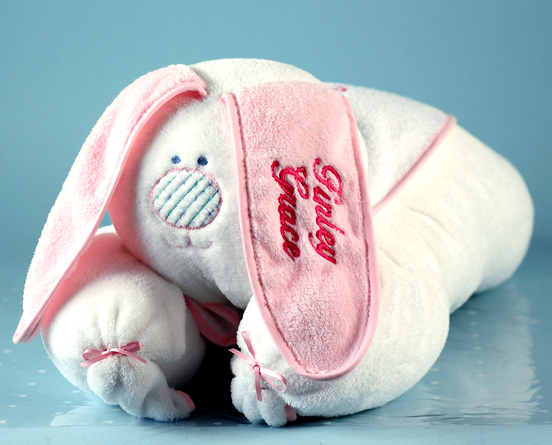 Personalized baby blanket my bunny honey by silly phillie snuggle bunny personalized baby gift set negle Choice Image