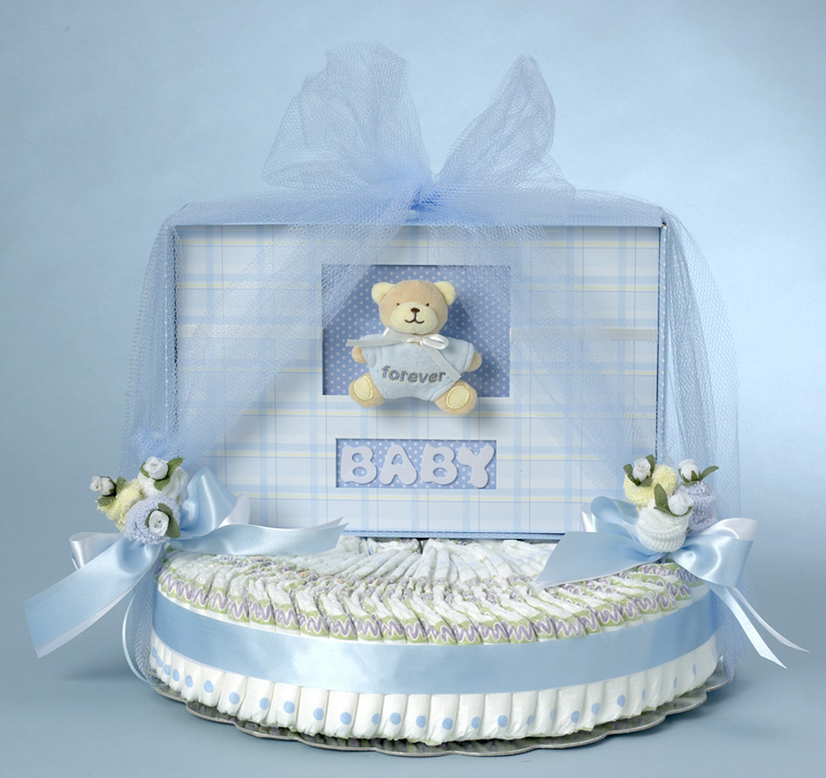 Keepsake Diaper Cake Gift For Baby Boy By Silly Phillie