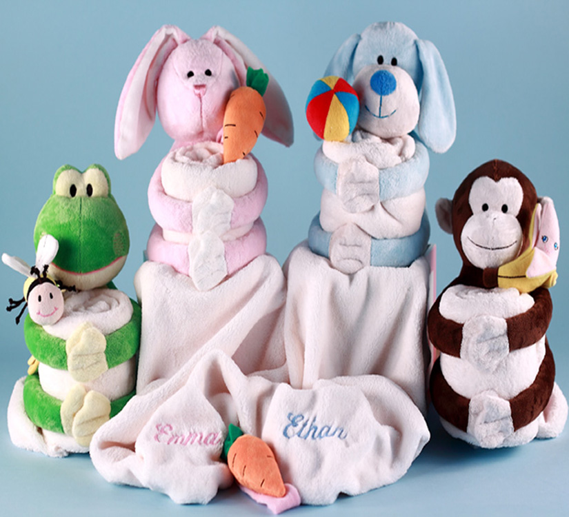 baby blanket plush personalized baby gift sets baby gifts