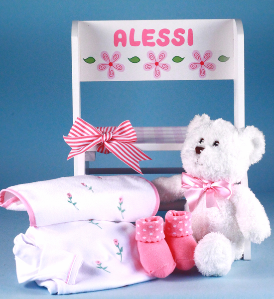 Personalized Baby Girl Gift Step Stool Deluxe By Silly