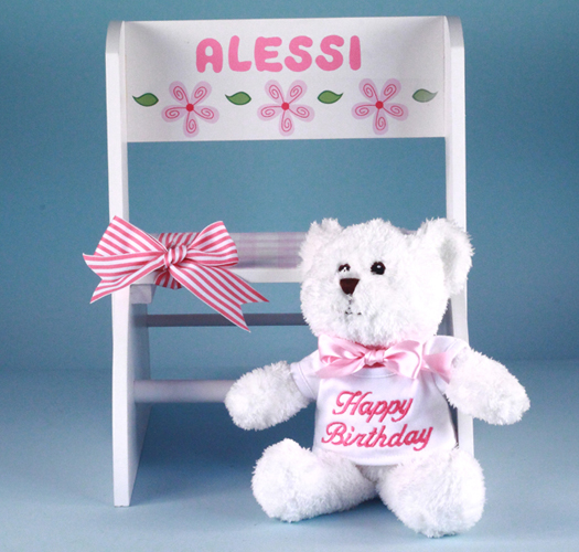 Personalized Baby Girl Gift-1st Birthday Step Stool
