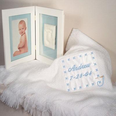 Personalized Baby Boy Gift-Blanket & Keepsake Frame-Silly Phillie