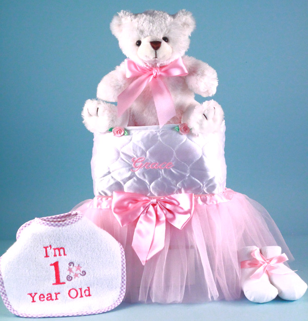 Personalized Baby Girl Gift-First Birthday by by Silly Phillie