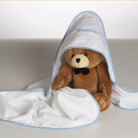 Personalized hooded towel bear baby boy gift by silly phillie personalized hooded towel baby gift with plush bear for boys negle Choice Image