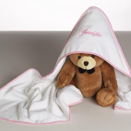 Personalized hooded towel bear baby boy gift by silly phillie hooded towel plush bear personalized baby girl gift negle Image collections