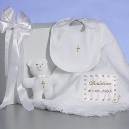 Christening baby blanket personalized gift set by silly phillie christening baby blanket personalized baby gift negle Choice Image