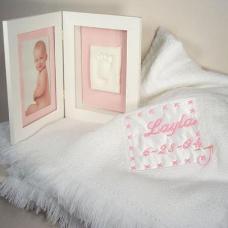 Personalized Baby Girl Gift-Blanket & Keepsake Frame-Silly Phillie