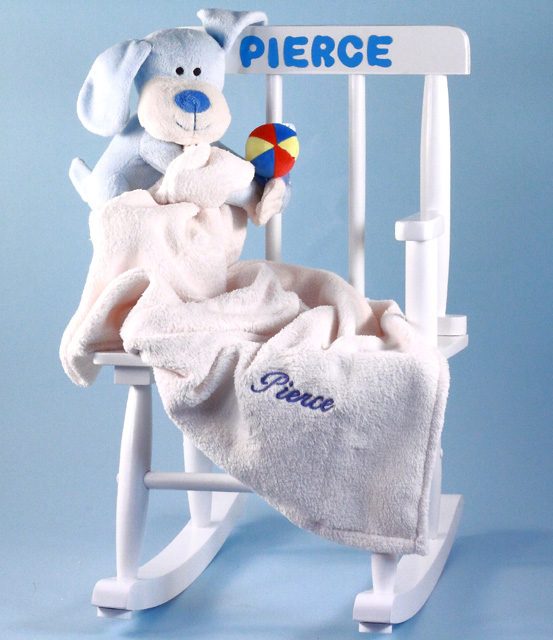 Baby girl gift personalized rocking chair by silly phillie personalized wood rocking chair baby girl gift negle Gallery