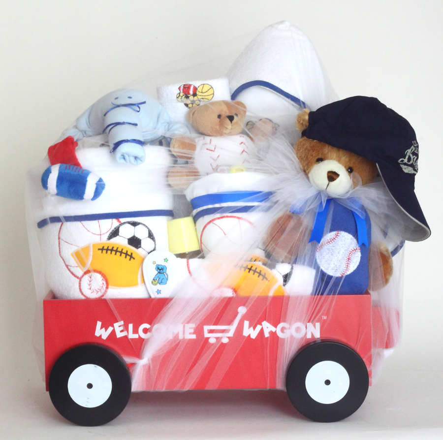 739b24165814 Gift for Baby Boy-Deluxe Welcome Wagon