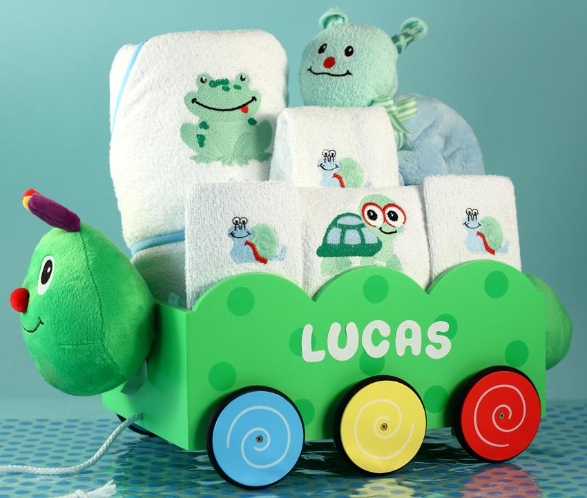 Caterpillar Wagon Baby Boy Gift | Silly Phillie