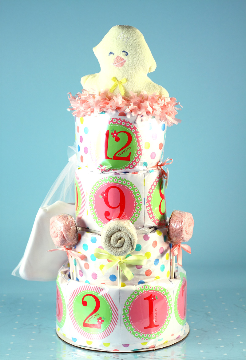 Belly Stickers Baby Shower Diaper Cake