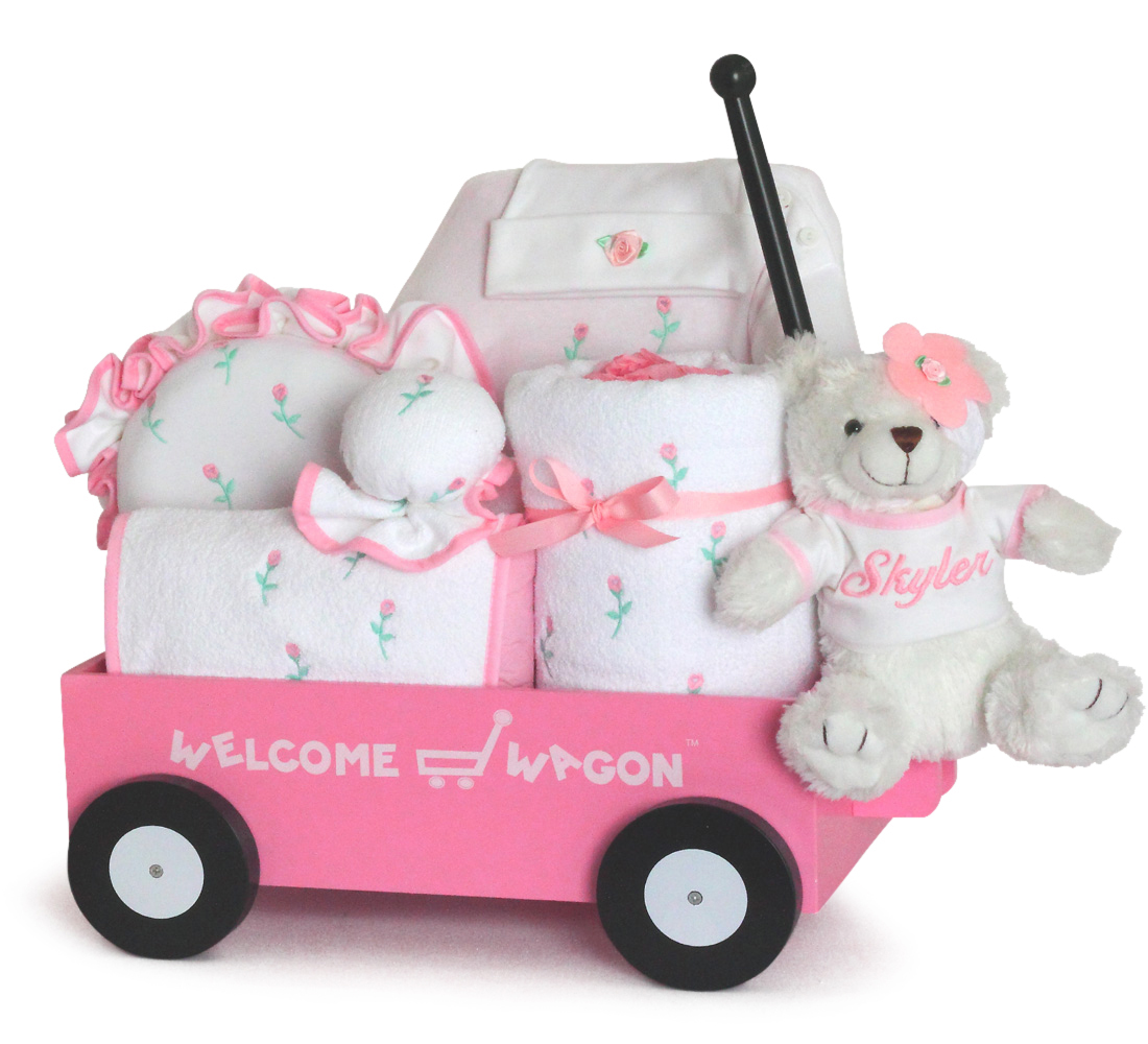 Baby Girl Gift-Pretty in Pink Welcome Wagon