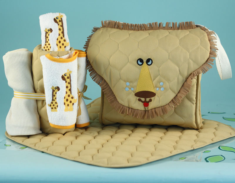 Lion diaper tote baby gift personalized baby gifts lion diaper tote baby gift set negle Choice Image