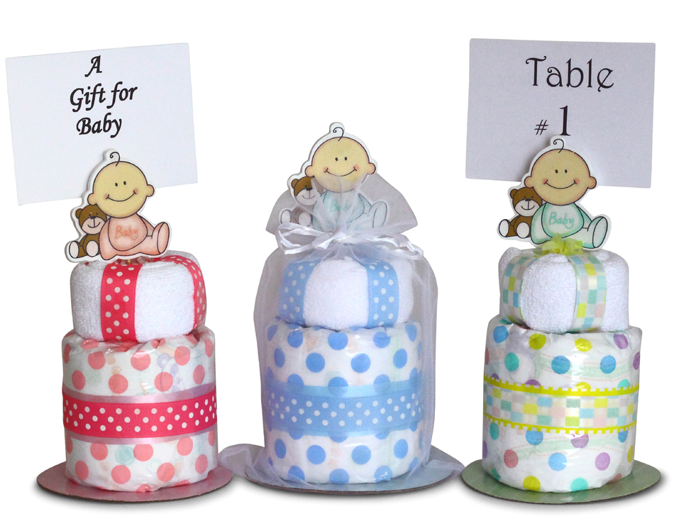 Mini Diaper Cakes Baby Shower Gift-Silly Phillie