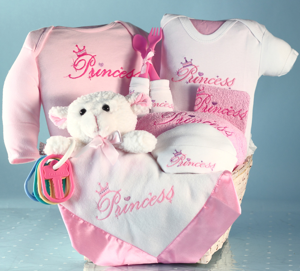 Beautiful baby gift baskets fit for a princess fit for a princess baby gift basket negle Images