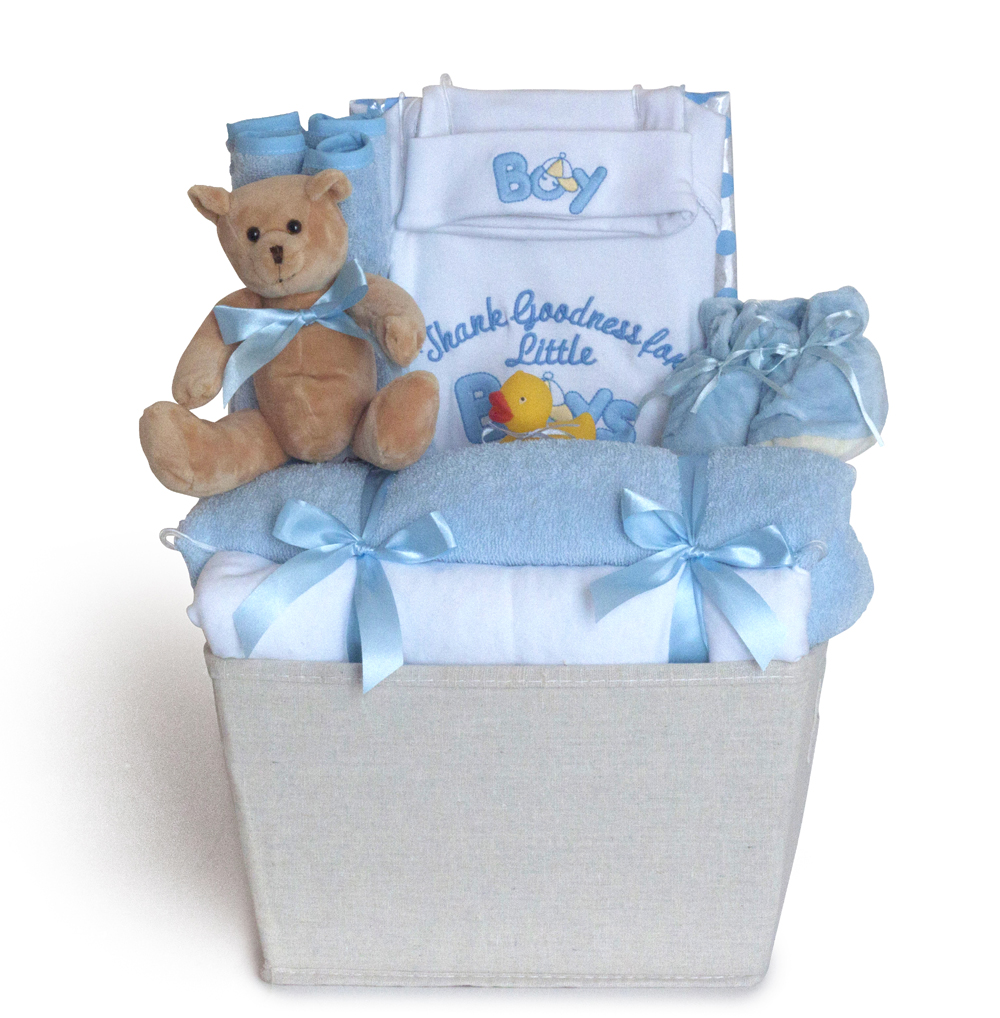 Thank goodness its a boy gift basket by silly phillie thank goodness for little boys baby gift basket negle Choice Image