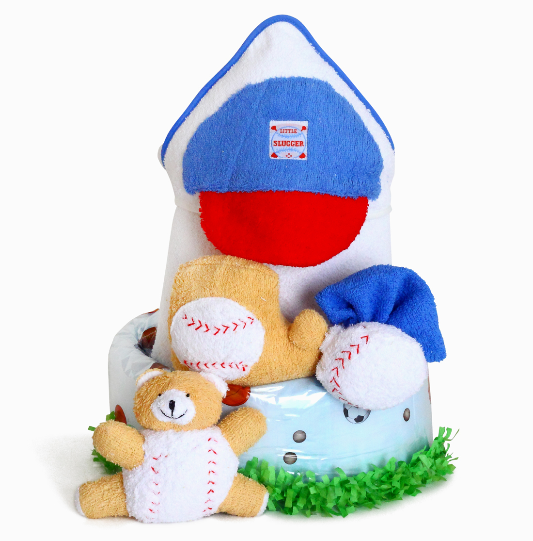 Little Slugger Diaper Cake Baby Boy Gift
