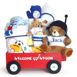 Silly phillie creations inc deluxe welcome wagon personalized baby boy gift negle