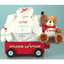 Gift for twins-welcome wagon layette baby gift