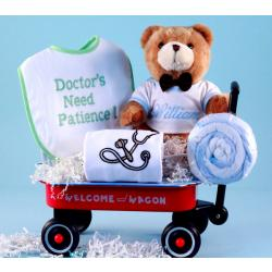 Doctor's Need Patience Welcome Wagon Personalized Baby Gift-boys