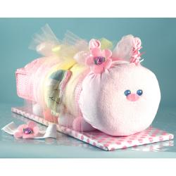 Caterpillar Baby Gift made from 100% cotton layette items for newborn baby girl
