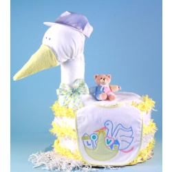 Stork Delivers Diaper Cake Baby Shower Gift