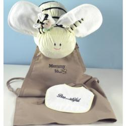 Unique Baby Shower Gift with Apron for expectant mom & layette items for baby