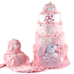 Poodle Diaper Cake Baby Gift