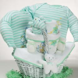 baby gift basket with catch a star gender neutral theme makes a great baby shower gift