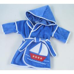 Personalized Baby Gift: Sailboat Hooded Cover-Up