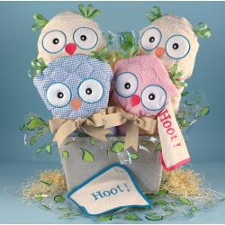 Two Hoots Baby Gift Basket for Twins