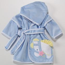 Hooded Terry Cover-Up baby boy gift with pony design