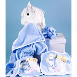 Boy Personalized Baby Gift In Rocking Horse Gift Box