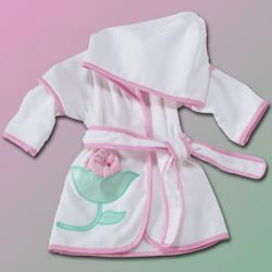 Flower Hooded Cover-Up Personalized baby gift with washcloth